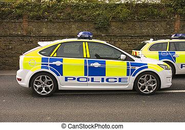 coches, policía, reino unido