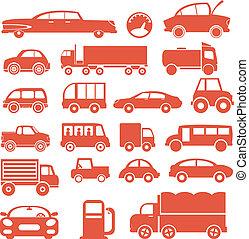 coches, set., icono