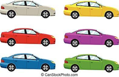 coches, vista lateral