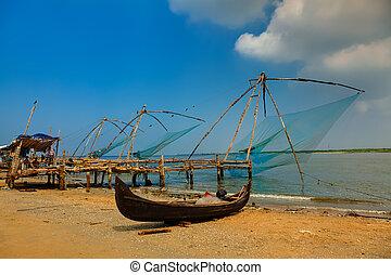 cochin, netto fischen, chinesisches