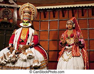 cochin, tugendhaft, uralt, märz, (green), klassisch, india.,...