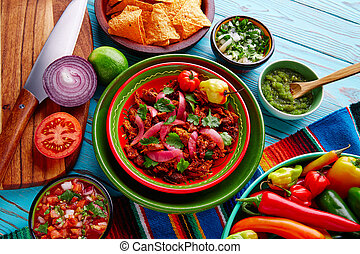 Cochinita Pibil Mexican food with red onion - Cochinita...