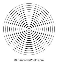 cochlear, circular, voluta, forma geométrica, remolino, ...