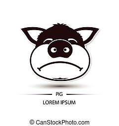 logo f ch dessin anim cochon business marquer f ch cochon vecteur conception logo. Black Bedroom Furniture Sets. Home Design Ideas