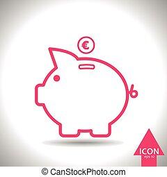 cochon, icône