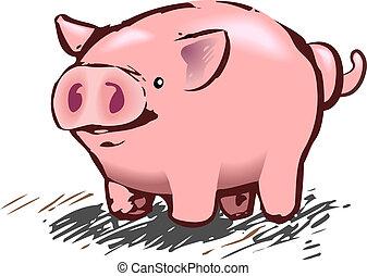 cochon, illustration