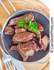 cocido al horno, carne