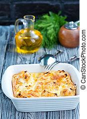 cocido al horno, coliflor