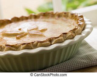 cocido al horno, corteza corta, pastel, pastel