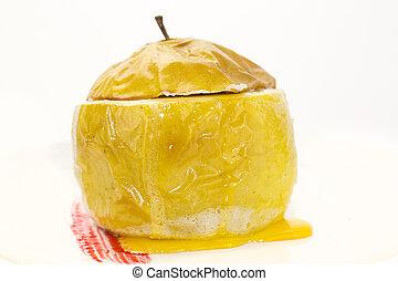 cocido al horno, manzana