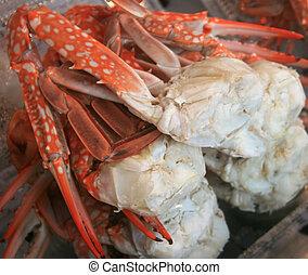 cocido al vapor, cangrejo