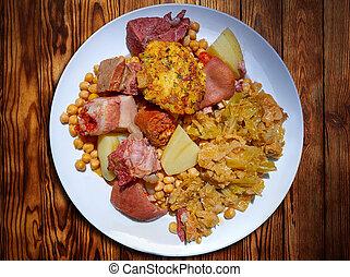 cocido lebaniego recipe from Potes in Cantabria