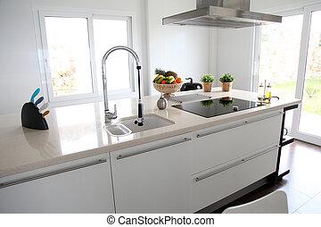 cocina casera, vista, contemporáneo, general