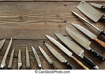 cocina, cuchillos, vario