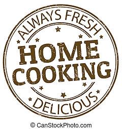 cocina de casa, estampilla