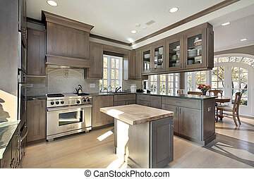 cocina, en, remodeled, hogar