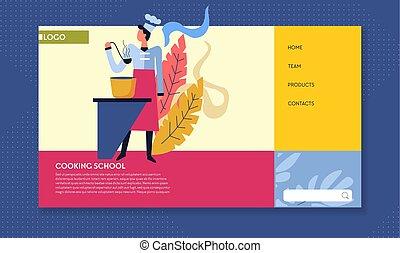 cocina, escuela, cocina, culinario, clases, en línea,...