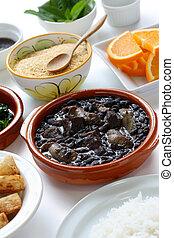 cocina, feijoada, brasileño