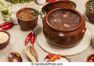 cocina, feijoada, tradición, brasileño