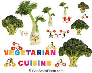 cocina, hecho, vegetariano, país, fabuloso, vegetabl, fruits