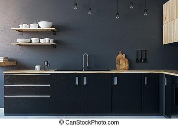 cocina, interior, nuevo