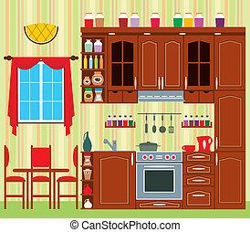 cocina, muebles