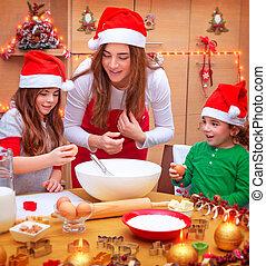 cocina, navidad, feliz