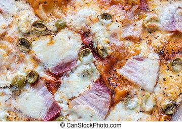 cocinado, pizza, cicatrizarse