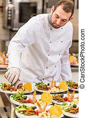 cocinero, chef, macho