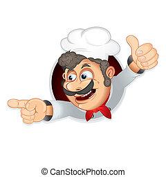 cocinero, divertido