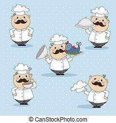 cocinero, es, en, el, campana