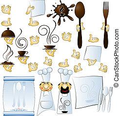 cocinero, manos