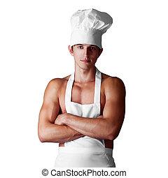 cocinero, muscleman