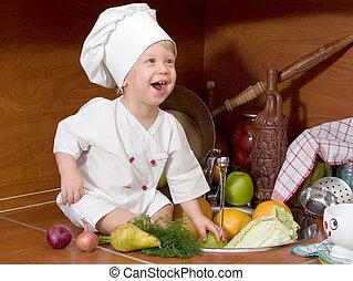 cocinero, poco