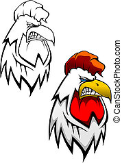 Cock head tattoo - Head of angry cock as a tattoo design