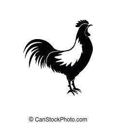 Cock icon, simple style