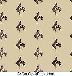 Cock vector art background design for fabric and decor....