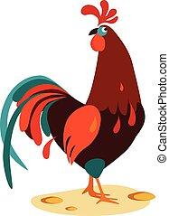 Cock Vector Illustration - Vector cartoon illustration of a...