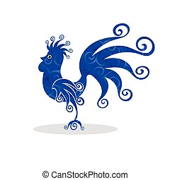 Cock Vintage fabulous silhouette pattern bird