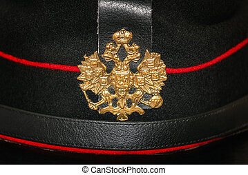 Cockade on the Peaked Cap of a soldier of the Russian Empire...