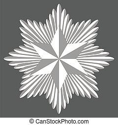 cockade with a hexagonal star of David - Template heraldry ...