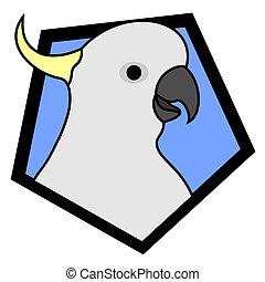 Cockatoo design - Design of cockatoo in frame