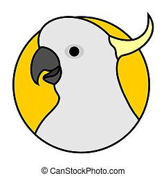 Cockatoo icon - Creative design of cockatoo icon