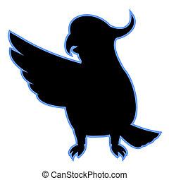 Cockatoo indicate - Creative design of cockatoo indicate