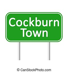Cockburn Town road sign. - Cockburn Town road sign isolated ...