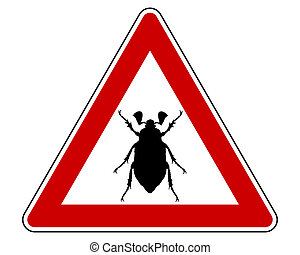 Cockchafer attention sign