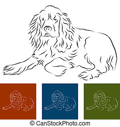 Cocker Spaniel - An image of a cocker spaniel Line Drawing
