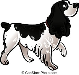Cocker Spaniel - Colorful illustration of the dog cocker...