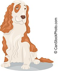 cocker spaniel dog cartoon illustration - Cartoon ...