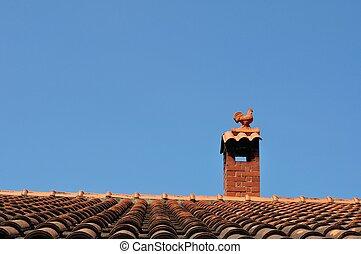 cockerel, 屋根